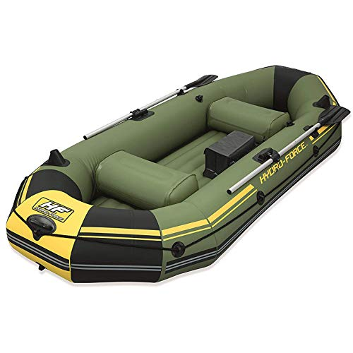 (Bestway Hydro Force Marine Pro Inflatable Boat Raft w/Pump & Aluminum Oars)