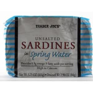 Trader Joe's Unsalted Sardines in Spring Water