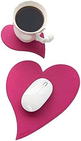 """See Jane Work Mousepad /& Coaster Set """"Heart-Shaped"""""""