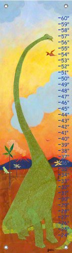 Oopsy Daisy, Fine Art For Kids PE2944 Growth Chart Long Neck Dinosaur Growth Chart -