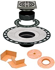 Schluter Systems Kerdi Drain Kit with 4 in Stainless Steel Grate