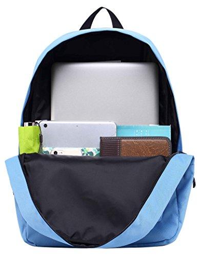 SIMPLAY Mochila Escolar Clásico | 44x30x12,5cm | Colores Variados | Turquesa D196D, Azul de Cornflower
