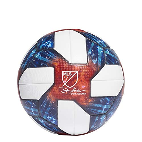 (adidas MLS Official Match Ball - White-Blue 5 )