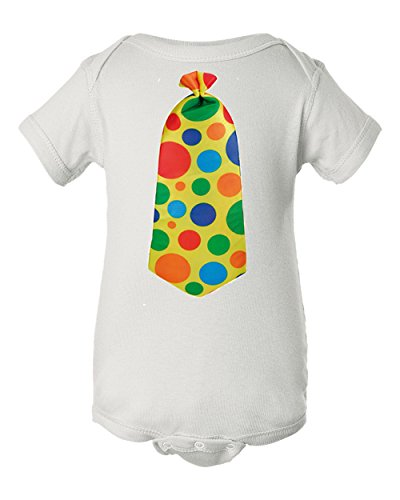 Diy Bodysuit Costume (Clown Tie Short Sleeve Baby Bodysuit, 100% Cotton (18 months, White))