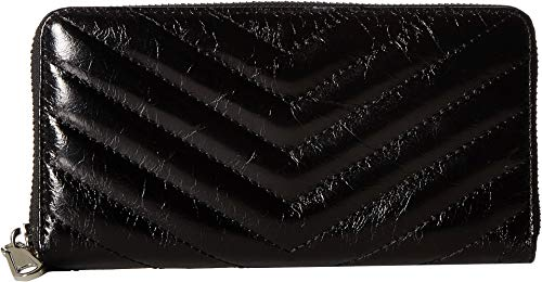 Rebecca Minkoff Women's Edie Quilted Wallet, Black, One (Best Rebecca Minkoff Womens Wallets)