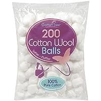 Cotton Tree Katoenen buis, 2 verpakkingen van 200 stuks.