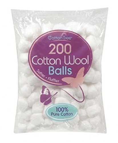 400 Cotton Wool Balls - 2 Packs of 200 Cotton Tree