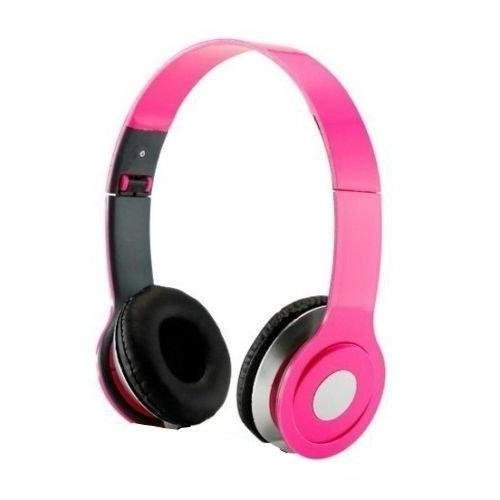(HeadGear 3.5mm Foldable Headphone Headset for Dj Headphone Mp3 M Pc Tablet Music Video and All Other Music Playersp (Pink))