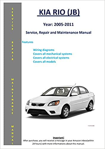kia rio manual book