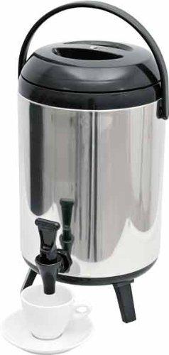 Thermo Getränkebehälter Wasserspender Thermoskanne Thermobehälter Thermogetränkebehälter kalt/warm 12 Liter Edelstahl