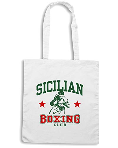 Speed Shirt Borsa Shopper Bianca TSTEM0087 SICILIAN BOXING