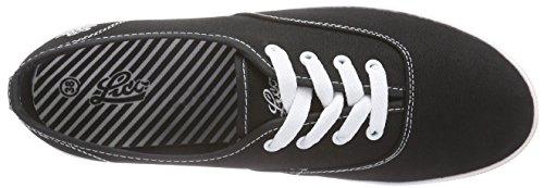 Lico Cassie - Zapatillas de lona para mujer negro Schwarz (schwarz/weiss) 38