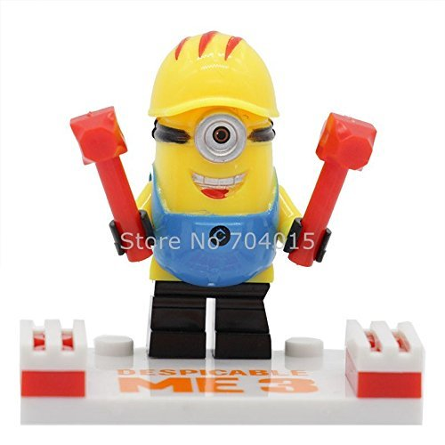 Minions Despicable Me 6 Pcs Set Minifigures Building Blocks Bricks Educational Toys New Kids Gift Compatible With Lego (Super Mario Star Road compare prices)