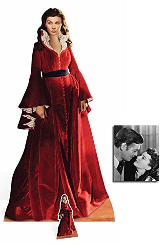 Fan Pack - Scarlett O'Hara (Vivien Leigh) Gone With the Wind Lifesize and Mini Cardboard Cutout / Standee / Standup - Includes 8x10 Star -