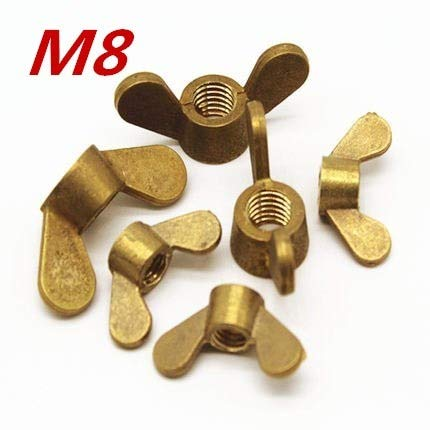 Stock-Home Fastener, 50Pcs/Lot M8 Brass Wing Nuts Butterfly Nuts