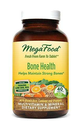 MegaFood - Multi for Healthy Bone, Helps Maintain Strong Bones, 40 Tablets (Strong Healthy Bones)