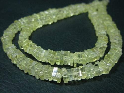 Prehnite Semi Precious Gemstone Tyre Rondelle Beads Natural Multi Prehnite Gemstone 5mm-6mm Smooth Heishi ~ Spacer Beads 16 Strand AAA