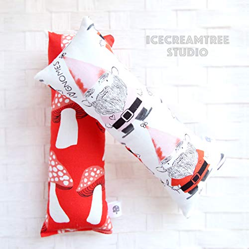Red Mushrooms/Gnomes - Large Catnip Kitty Kicker, Catnip Pillow Toy, Cat Toy, Catnip Toy
