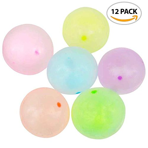 ArtCreativity Jelly Balloon Ball Set (12 Piece) | Fun Balloon Balls That Bounce & Stretch | Punch Balloons | Inflation Nozzles Included | Cool Party Favor for Kids/ Gift Idea (Jelly Ball)