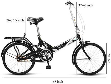 NENGGE Mujer Bicicleta Plegable, Adultos Ligero Bicicleta de ...