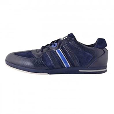 3bcee7e08 Adidas Y3 Sala Mens Leather Lace Up Navy Sneakers Trainers Shoe Size  UK 8  New  Amazon.co.uk  Shoes   Bags