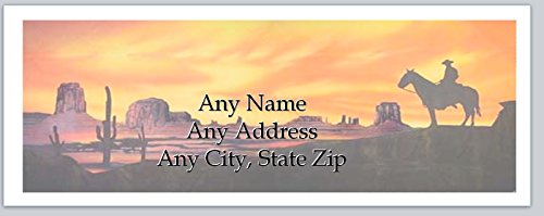 150 Personalized Address Labels Western Country Lone Rider (ac 930)