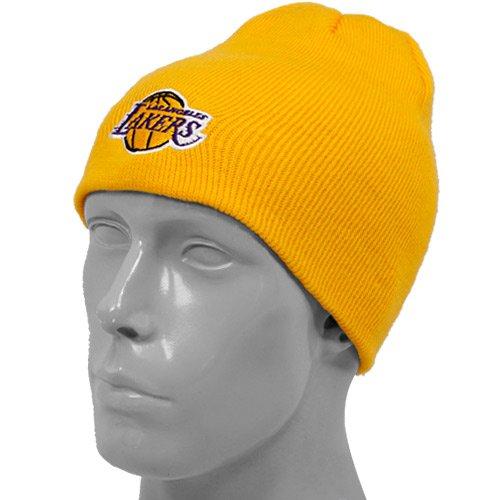 adidas Los Angeles Lakers NBA Basic Logo Cuffless Knit Hat - - Cuffless Logo Hat Knit