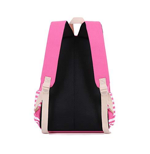 Raya Deportes Mochilas Bolsas Sólido Casual Viaje Libre Colegio Tipo Lona Backpack Mujer Color Gran Al Capacidad Escolares Jamie Aire Rosa Soul Moda 4BAq66