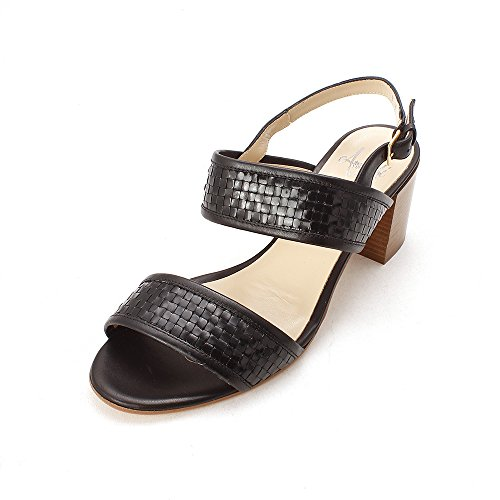 Stuoiato Casual Rangoni Womens Toe Ankle Strap by Sandals Open Black Amalfi gBqZUwtxU