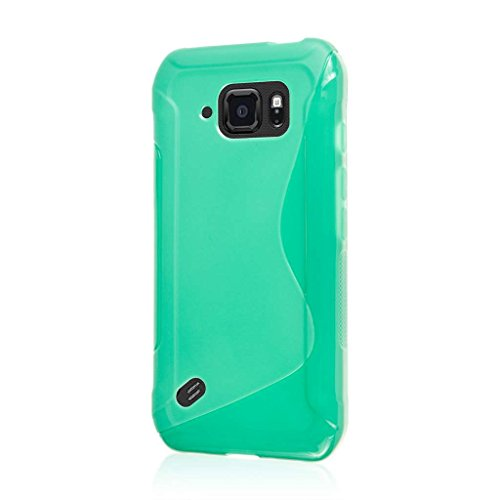 Samsung Galaxy S6 Active Case, MPERO FLEX S Series Soft Textured Non Slip Flexible TPU Slim Case for Galaxy S6 Active [Perfect Fit & Precise Port Cut Outs] - Mint Green