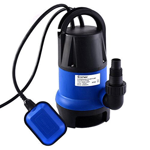 Goplus 1/2HP 2000GPH Submersible Dirty Clean Water Pump Flooding Pond ()