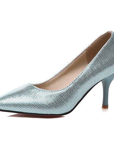GGX/Damen Schuhe PU Sommer/spitz Toe Heels Büro & Karriere/Casual Stiletto Heel Pailletten Blau/Silber/Gold blue-us9 / eu40 / uk7 / cn41
