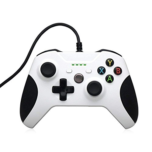 STOGA Xbox One Controller, Webat USB Wired Game Controller Replacement Gamepad Compatible Xbox One & PC (Windows 7/8/10), White
