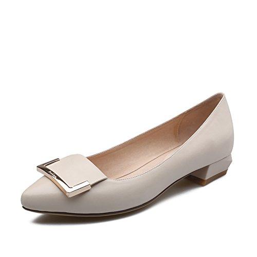 Zapatos bajo Coreano Lady Joker en primavera/lado casual hebilla grueso tacones zapatos A