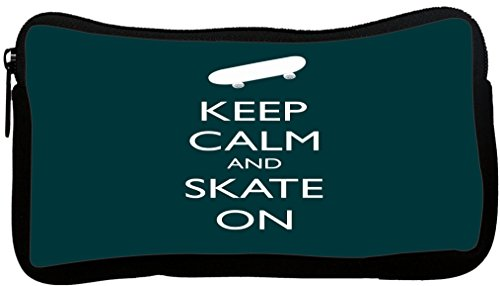 Rikki Knight Keep Calm and Skate On - Green Color Design ...