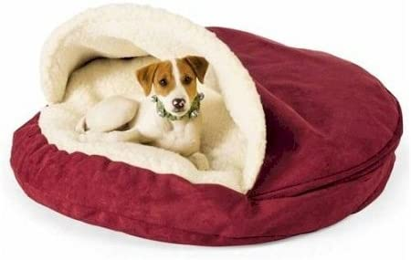 Snoozer Luxury Cozy Cave, Large, Red