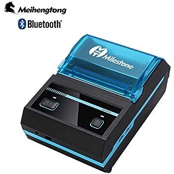 Amazon.com: NYEAR Impresora de recibos térmicos, portátil ...