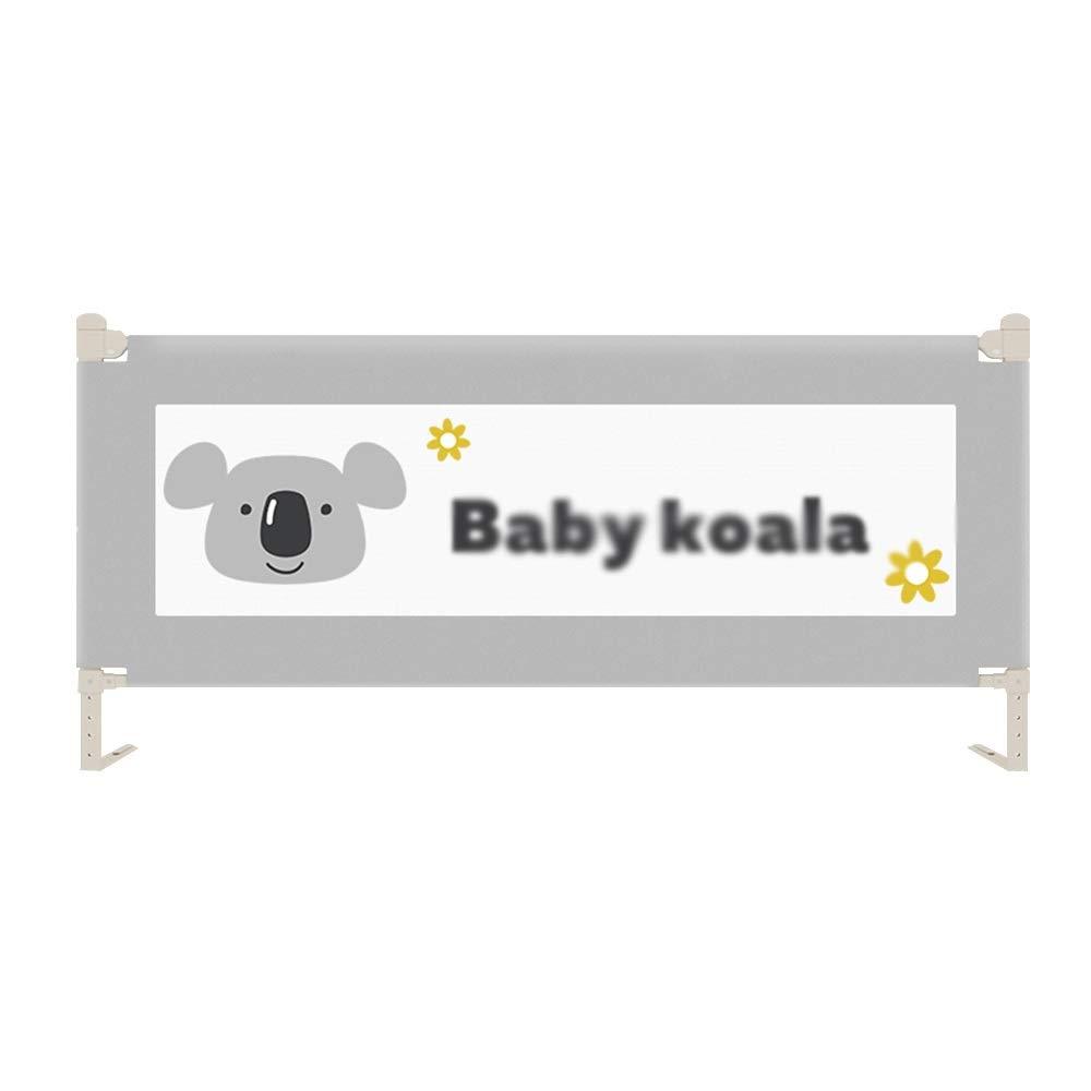QFFL 幼児のためのベッドの柵、赤ん坊および子供のための単一の網の縦の持ち上がる折る安全保護ベッドの監視(1.5 / 1.8 / 2.0 / 2.2m)ブルーピンクグレー (Color : 4, Size : 1.8m) 1.8m 4 B07T65HHJ5
