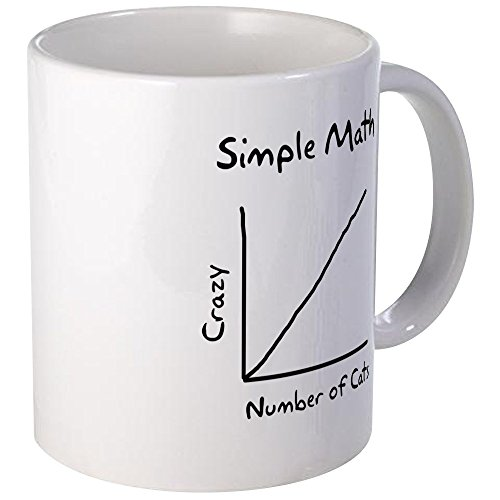 CafePress - Simple Math Crazy Number Of Cats - Unique Coffee Mug, Coffee Cup