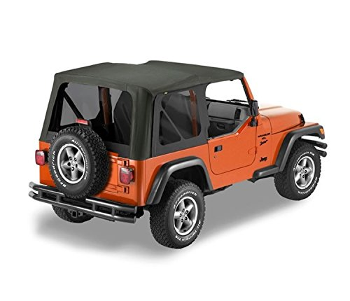 Replacement Jeep Window - Bestop 79141-35 Black Diamond Sailcloth Replace-A-Top Soft Top with Tinted Windows; no Door Skins Included for 2003-2006 Wrangler (Except Unlimited)