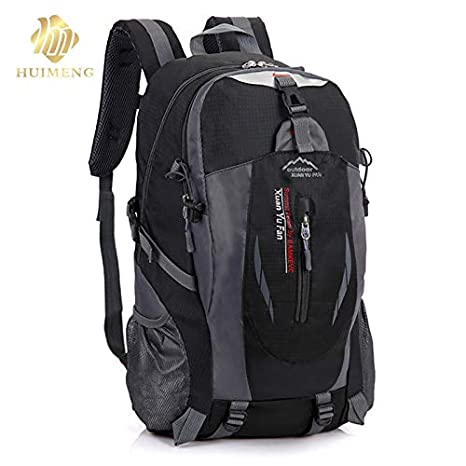 b39bd610b05d Image Unavailable. Image not available for. Color  2018 Travel Functional  Package Fashion School Bag Waterproof Nylon Men Backpack Women Rucksack  Trekking