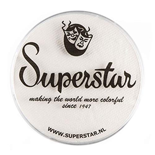 Superstar Face Paint - Line White 161, Hypoallergenic, Gluten Free & Cruelty Free - Child Friendly, Great for Fairs, Carnivals, Party & Halloween Painting (45 gm)
