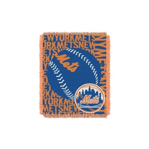 Ny Mets Throw (MLB New York Mets Double Play Jacquard Throw, 48
