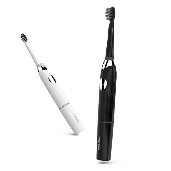 SUNLMG Cepillo de Dientes eléctrico Lavado Velocidad vibración Pelo Suave Impermeable Cepillo de Dientes automático Adultos Limpiar,Black: Amazon.es: Hogar