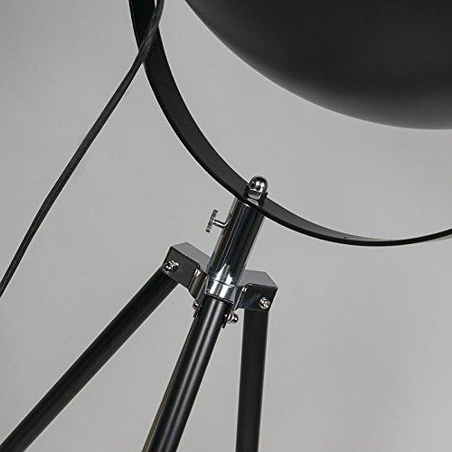 1 x Watt//Indoor Lighting//Lights//Lamps//Living Room QAZQA Modern Floor Lamp Tripod Magna Matte Black Round E27 Max
