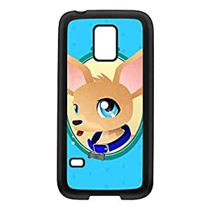 Chihuahua Black Silicon Rubber Case for Galaxy S5 Mini by DevilleArt + FREE Crystal Clear Screen Protector