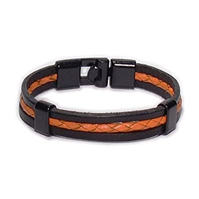 AUTHENTIC HANDMADE Leather Bracelet, Men Women Wristbands Braided Bangle Craft Multi [SKU001706]
