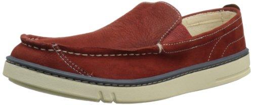 Timberland Men's Hookset Leather Slip-On,Red,10.5 M US - Timberland Men Hookset