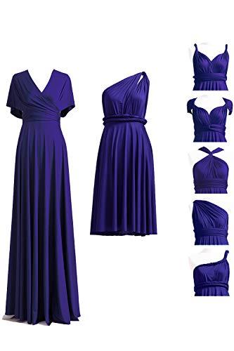 Midnight Blue Infinity Dress with Bandeau, Convertible Dress, Bridesmaid Dress, Long,Short, Plus Size, Multi-Way Dress, Twist Wrap Dress