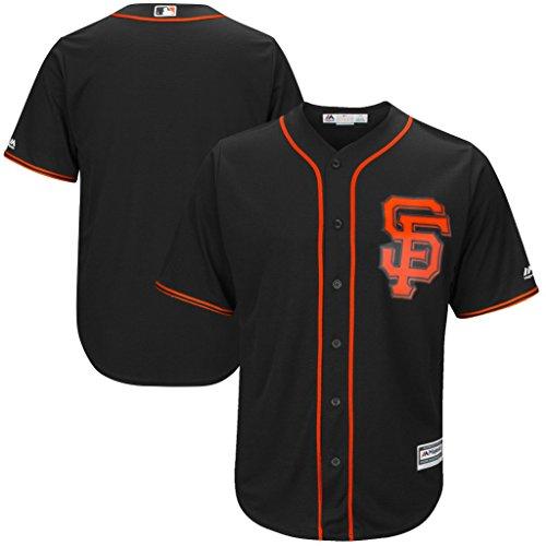 Black Cool Base Jersey - VF San Francisco Giants New MLB Mens Majestic Cool Base Replica Jersey Black Big & Tall Sizes (2XT)